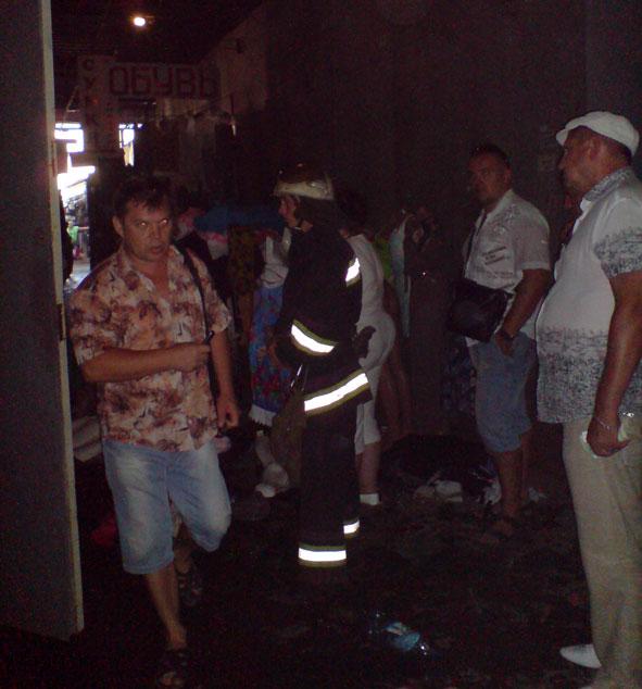 В Краматорске на рынке загорелся торговый контейнер (фото) - фото 1
