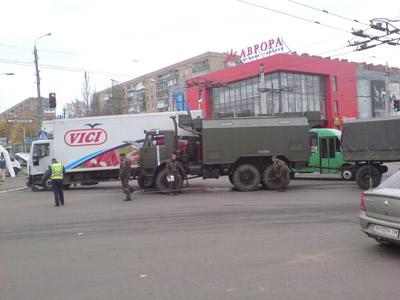 ДТП с военной техникой в Краматорске