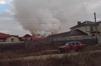 1-го декабря, произошел пожар на улице Рыбалко – в частном секторе вверх от 28-го училища загорелась баня